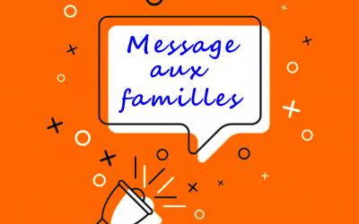 Message aux familles